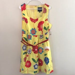 NWT Cute floral fit and flare dress ModCloth XL